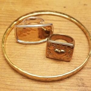 1990's RARE Robert Lee Morris RESPECT ring + more!
